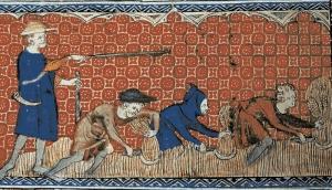 Vilões trabalhando no campo do Senhor Feudal
